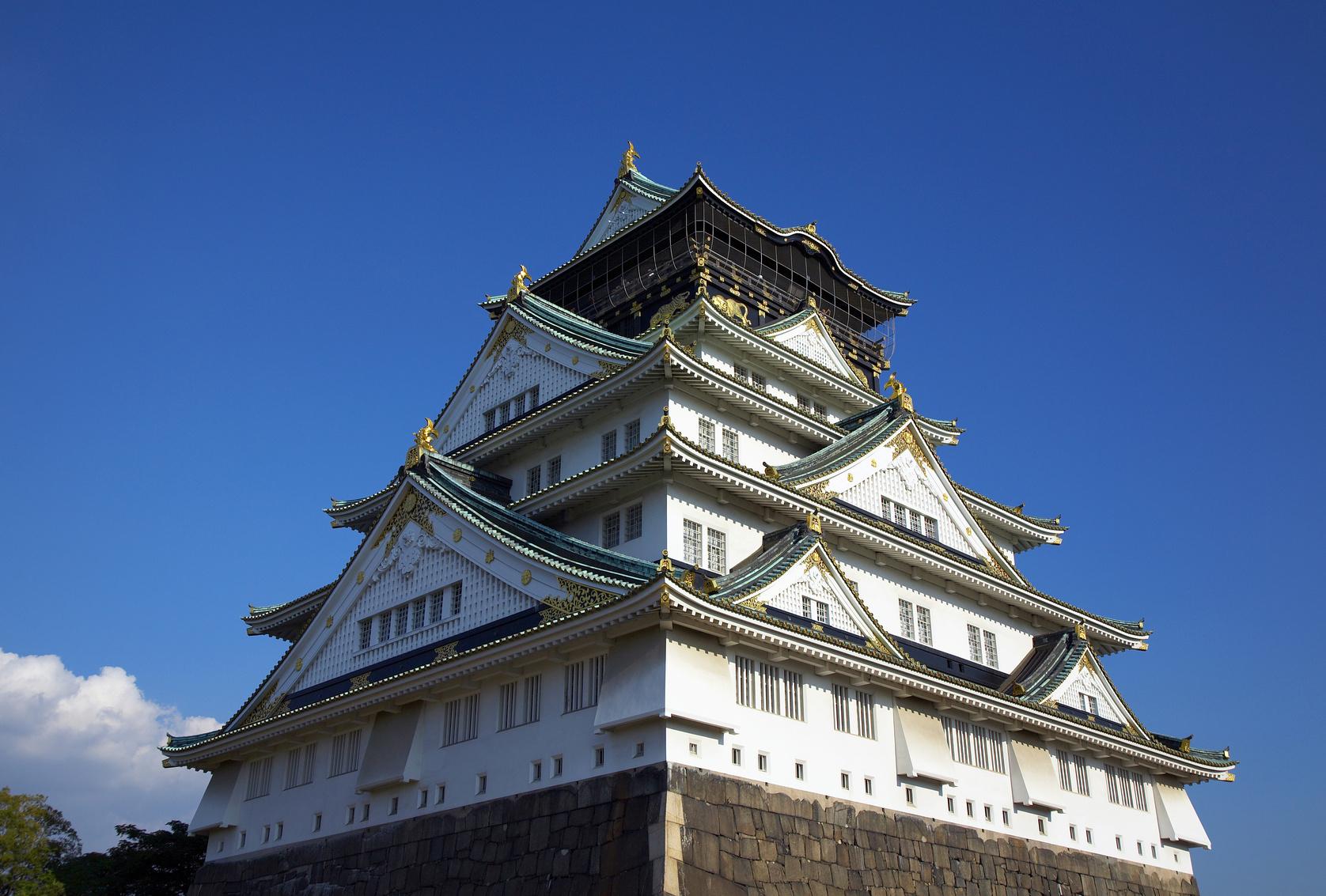 大阪城の漆喰