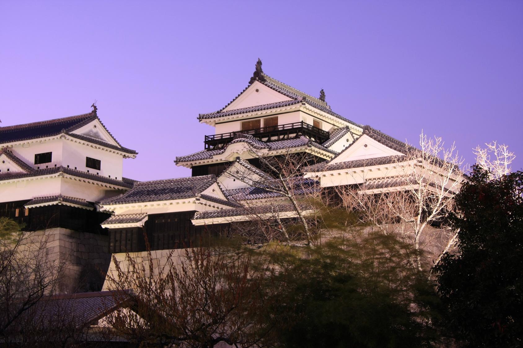 松山城の漆喰