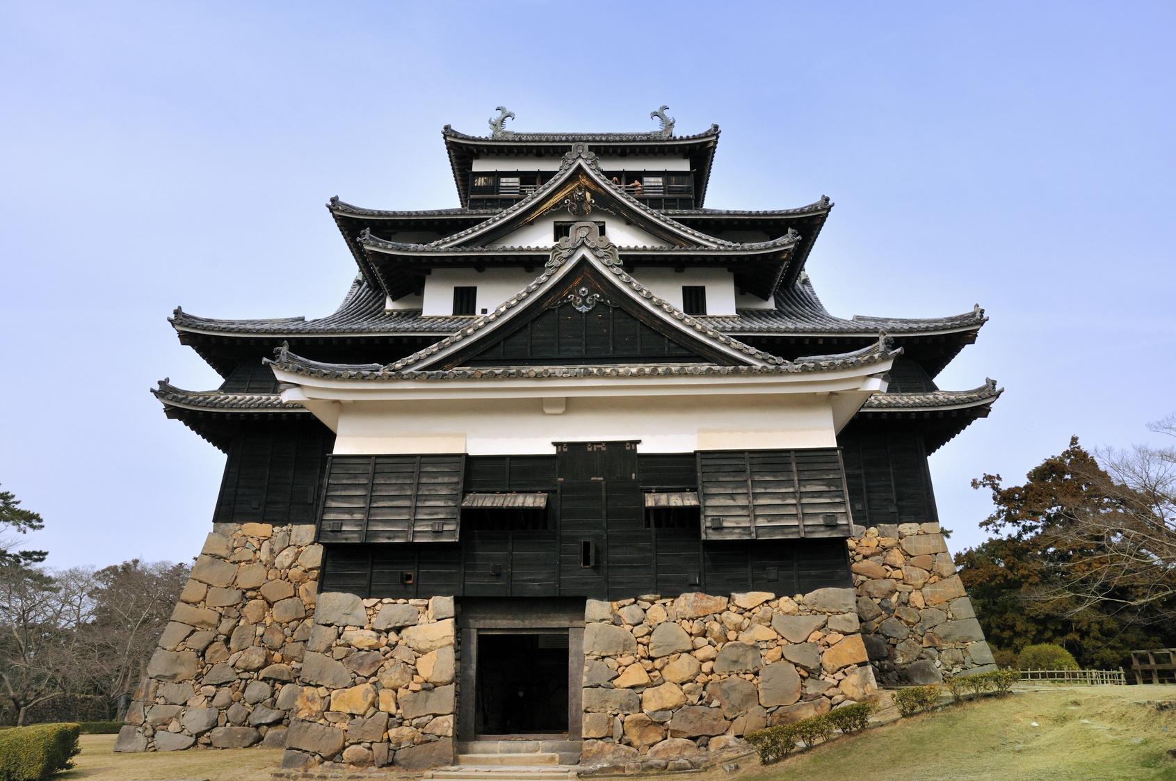 松江城の漆喰