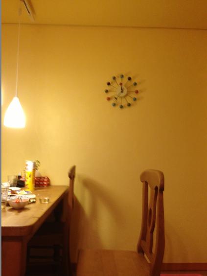 白井の家 黄色顔料、黄土入り漆喰 パターン仕上げ