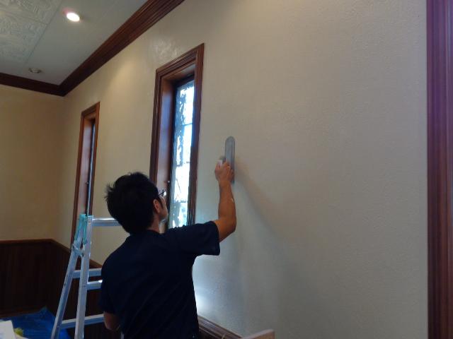 自然素材漆喰壁リフォーム千葉東京左官5