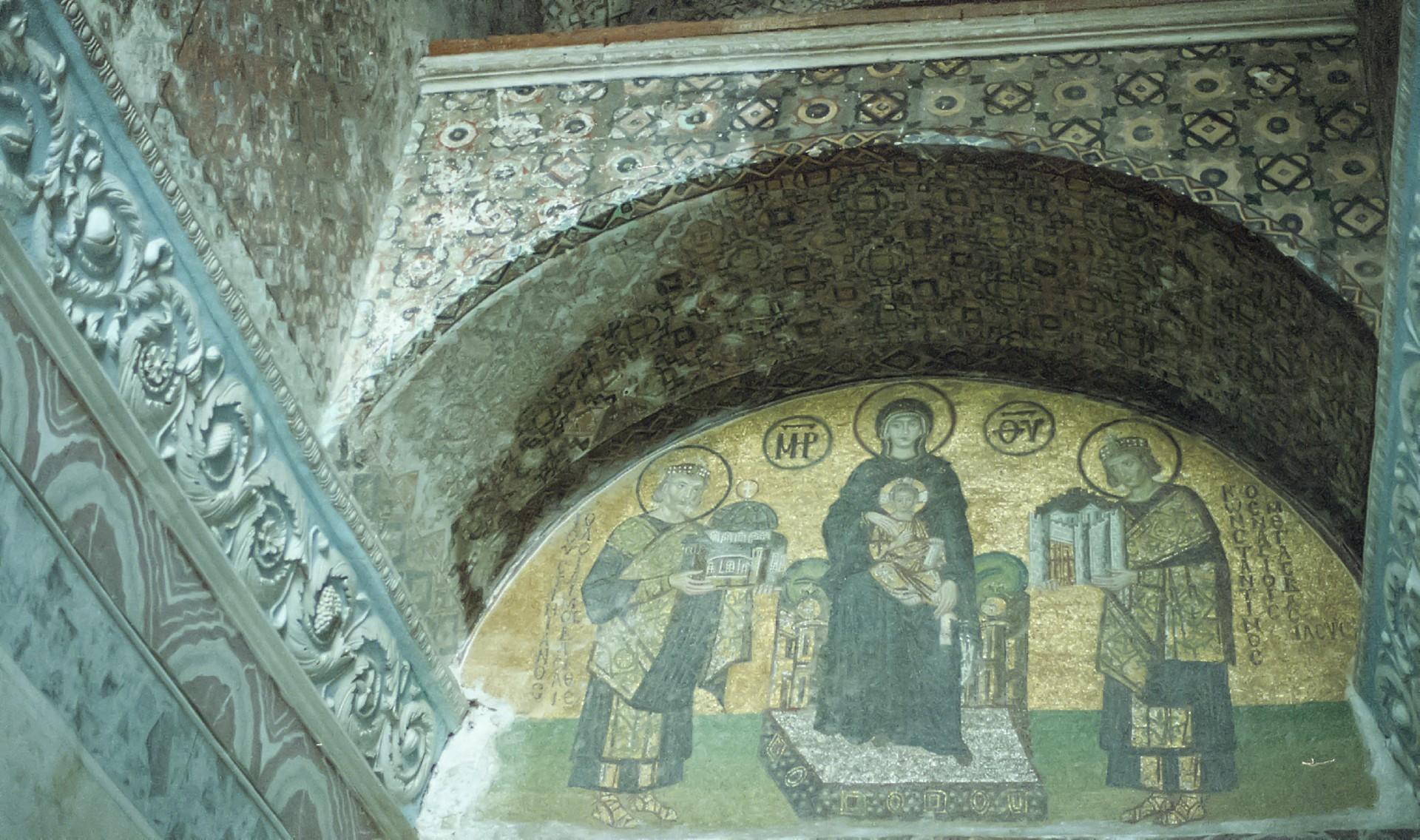 アヤソフィア7世界の漆喰