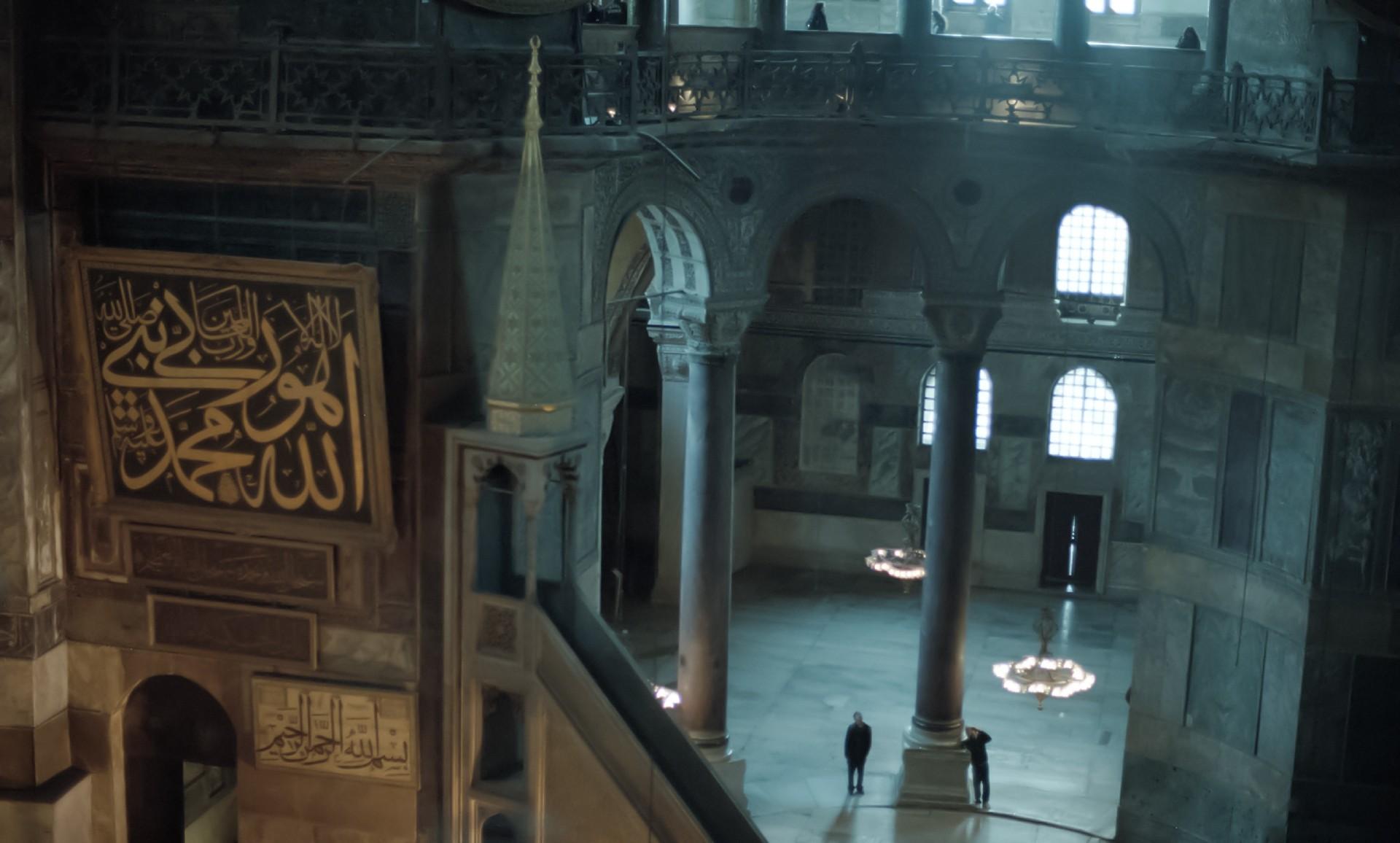 アヤソフィア3世界の漆喰